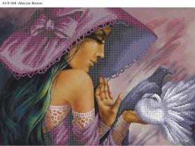 Схема для вышивки бисером на габардине Миссис Виола, , 70.00грн., А3-К-508, Acorns, Люди