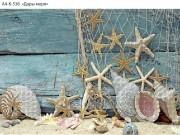 Схема для вышивки бисером на габардине Дары моря