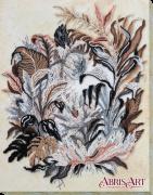 Набор для вышивки бисером на холсте Рисунок сепией