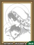 Рисунок на ткани для вышивки бисером Дева Мария с младенцем