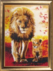 Набор для вышивки бисером Папа и сын Баттерфляй (Butterfly) 638Б