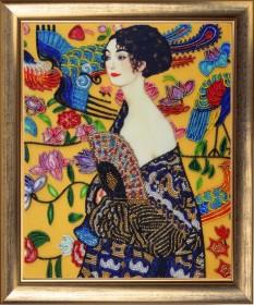 Набор для вышивки бисером Дама с веером (по мотивам Г. Климта), , 356.00грн., 807Б, Баттерфляй (Butterfly), Люди