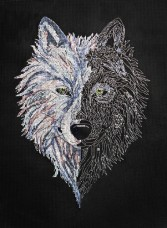 Набор для вышивки крестом Волк Абрис Арт АН-125