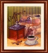 Схемы для вышивания бисером на авторской канве Кофейный натюрморт
