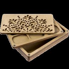 Органайзер для бисера многоярусный с деревянной крышкой FLZB-080 Волшебная страна FLZB-080