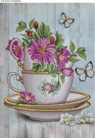 Схема для вышивки бисером на габардине Сервиз, , 70.00грн., А3-К-272, Acorns, Пейзажи и натюрморты