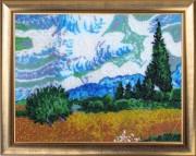 Набор вышивки бисером Поле с кипарисами