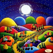 Схема вышивки бисером на атласе Красочный пейзаж
