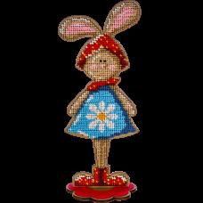 Набор для вышивки бисером по дереву Кролик Девочка Волшебная страна FLK-253