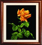 Схемы для вышивания бисером на авторской канве Желтая роза