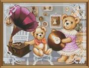 Набор для вышивки крестом Мишки - меломаны