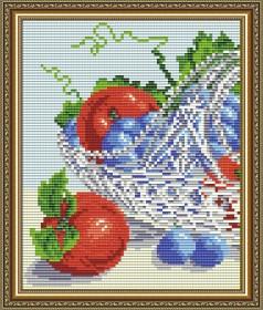 Набор для выкладки алмазной техникой В хрустале. Виноград с яблоками диптих 1, , 280.00грн., АТ5549, Art Solo, Картины из нескольких частей