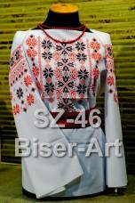 Заготовка для вышивки бисером Сорочка женская Biser-Art Сорочка жіноча SZ-46 (габардин)