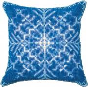 Набор для вышивки подушки крестиком Снежинка