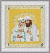 Набор для вышивки бисером Святые Петр и Феврония (ажур) золото