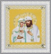 Набор для вышивки бисером Святые Петр и Феврония (ажур) золото Картины бисером Р-375