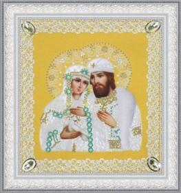 Набор для вышивки бисером Святые Петр и Феврония (ажур) золото Картины бисером Р-375 - 242.00грн.