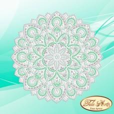 Схема вышивки бисером на атласе Мандала Мятная свежесть