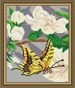 Набор для выкладки алмазной техникой Яблоневый цвет Триптих Часть 2
