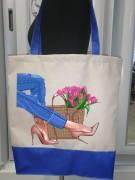Эко сумка для вышивки бисером Мальвина 7