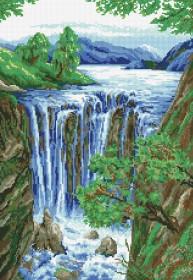 Набор для выкладки алмазной мозаикой Водопад Алмазная мозаика DM-045 - 630.00грн.