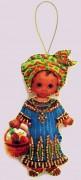 Набор для изготовления куклы из фетра для вышивки бисером Кукла. Африка