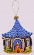 Набор для изготовления игрушки из фетра для вышивки бисером Домик благополучия