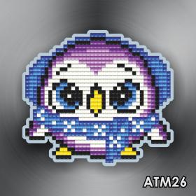 Магнит для выкладки алмазной мозайкой Пинвиненок фиолетовый