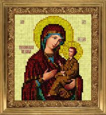 Набор для вышивки ювелирным бисером Икона Тихвинская Краса и творчiсть 10913