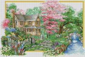 Набор для выкладки алмазной мозаикой Времена года: Весна