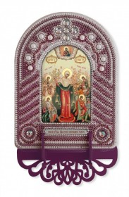 Набор для вышивки иконы с рамкой-киотом Богородица Всех Скорбящих Радость