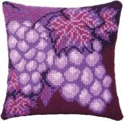Набор для вышивки подушки крестиком Виноград