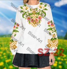 Заготовка для вышивки бисером Сорочка женская Biser-Art Сорочка жіноча SZ-22 (габардин)