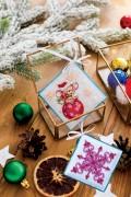 Набір для вишивки новорічной прикраси Мишка-шалунішка
