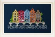 Набор для вышивки нитками Европейский городок