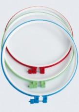 Пяльцы пластиковые для вышивания с металлическим винтом, 1 шт