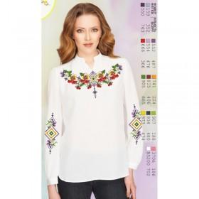 Заготовка вышиванки Женской сорочки на белом габардине Biser-Art SZ104 - 320.00грн.