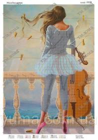 Схема для вышивания бисером на атласе Мелодия ветра