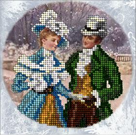 Набор для вышивки ювелирным бисером Рождественские истории 18