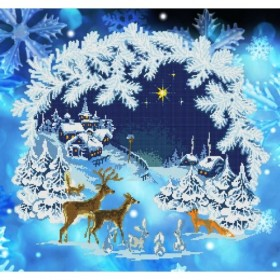 Схема для вышивки бисером Зимняя сказка
