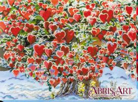 Набор для вышивки бисером Дерево любви, , 523.00грн., АВ-607, Абрис Арт, Пейзажи