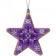 Набор для вышивки бисером по дереву Звезда