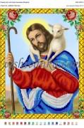 Схема для вышивки бисером на атласе Христос- добрий Пастир