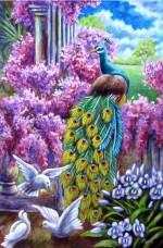 Набор для выкладки алмазной мозаикой Павлин и голуби Алмазная мозаика DM-302