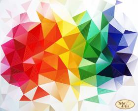 Схема для вишивання бісером на атласі Весела Геометрія Tela Artis (Тэла Артис) ТА-425 - 98.00грн.