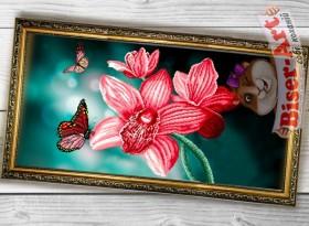 Схема вышивки бисером на габардине Панно Орхідеї Biser-Art 3060005 - 130.00грн.