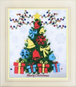 Набор для вышивки нитками (стиль Rococo) Счастливого рождества!