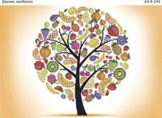 Схема для вышивки бисером на габардине Дерево изобилия Acorns А4-К-249