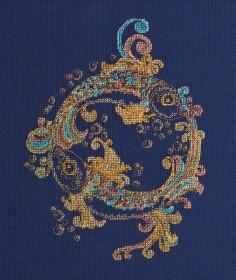 Набор для вышивки крестом Золотые рыбки