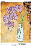 Схема вышивки бисером на атласе Фиолетовая орхидея